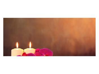Tablou relaxant cu lumănâri și orhidee (K011120K12050)