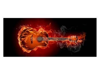 Lángoló gitár képe (K011168K12050)