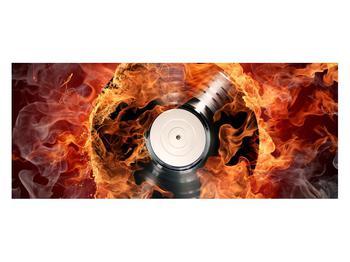 Tablou cu placă de gramofon în foc (K011171K12050)