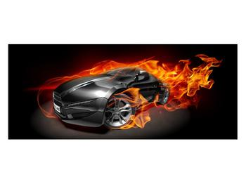 Tablou cu mașina arzând (K011174K12050)
