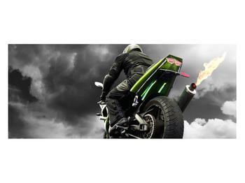 Tablou cu motociclist pe motocicletă (K011383K12050)