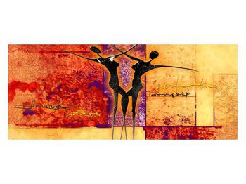 Tablou abstract cu doi dansatori (K011975K12050)