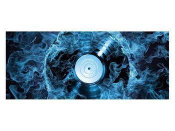 Tablou cu placă de gramofon în foc albastru (K014442K12050)