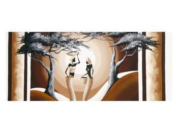 Tablou oriental cu două femei și copac (K014682K12050)
