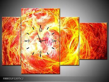 Abstraktní oranžový obraz (F000152F12075C2)