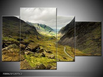 Obraz cesty uprostřed hor (F000621F12075C2)