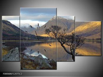 Obraz hor u jezera (F000686F12075C2)