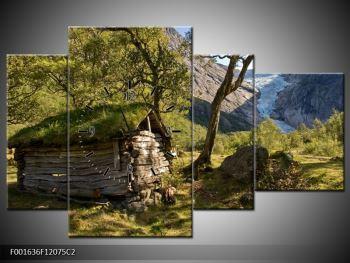 Obraz horské chatrče (F001636F12075C2)