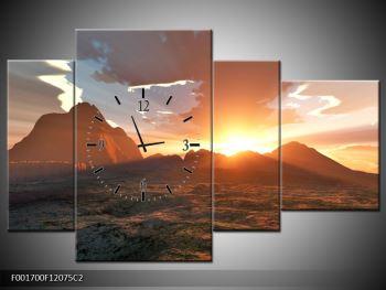 Obraz západu slunce nad horama (F001700F12075C2)