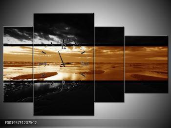 Dvroubarevný obraz moře (F001957F12075C2)