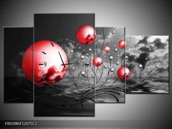 Moderní obraz - červené koule (F002086F12075C2)