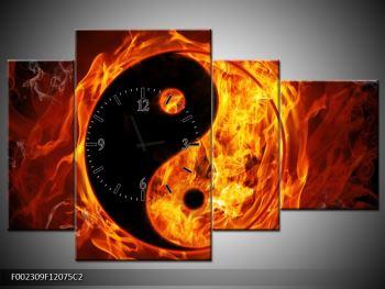 Obraz hořícího jin jang (F002309F12075C2)