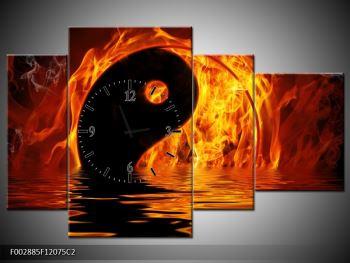 Obraz hořícího Jin Jangu  (F002885F12075C2)