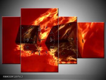 Moderní obraz hořících herních kostek (F004319F12075C2)