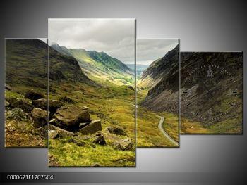 Obraz cesty uprostřed hor (F000621F12075C4)
