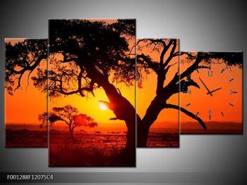 Obraz ohnivého západu slunce (F001288F12075C4)