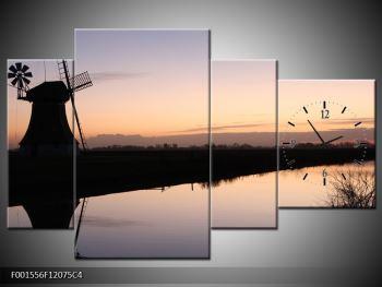 Obraz rybníku u mlýna (F001556F12075C4)