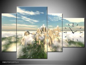 Obraz zasněžených vrcholů skal (F001715F12075C4)