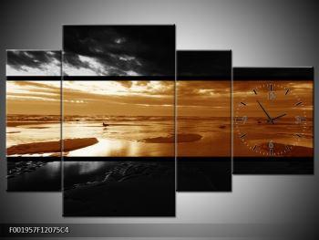 Dvroubarevný obraz moře (F001957F12075C4)