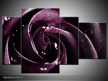 Obraz fialové růže (F002035F12075C4)