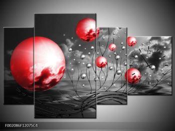 Moderní obraz - červené koule (F002086F12075C4)