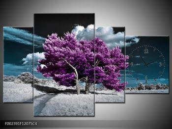 Obraz fialových stromů na pláni (F002391F12075C4)