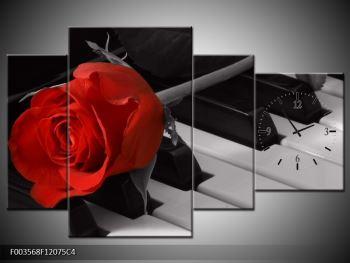 Obraz růže na piánu  (F003568F12075C4)