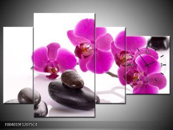 Obraz fialových květů s kameny (F004019F12075C4)