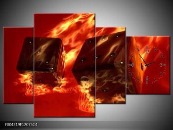 Moderní obraz hořících herních kostek (F004319F12075C4)