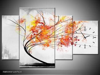 Abstraktní obraz -  podzimní strom (F005591F12075C4)