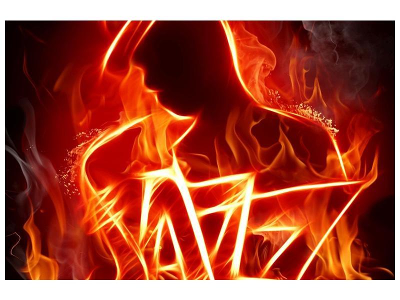 Obraz ohnivé postavy (F001691F12080)