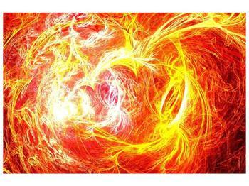 Abstraktní oranžový obraz (F000152F12080)