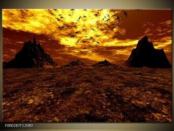 Obraz vyprahlého údolí (F000287F12080)