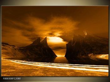 Obraz skály a pláže (F000300F12080)