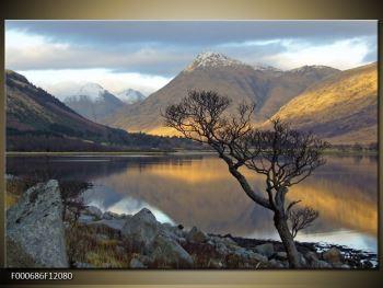 Obraz hor u jezera (F000686F12080)