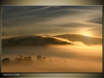 Obraz hor v mlze (F001451F12080)