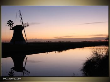 Obraz rybníku u mlýna (F001556F12080)