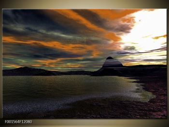 Obraz moře v temné obloze (F001564F12080)