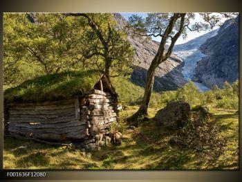 Obraz horské chatrče (F001636F12080)