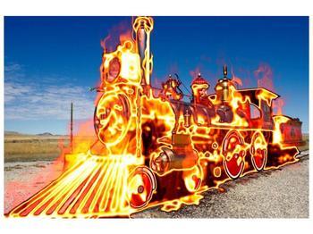 Obraz ohnivé lokomotivy (F001696F12080)