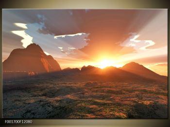 Obraz západu slunce nad horama (F001700F12080)