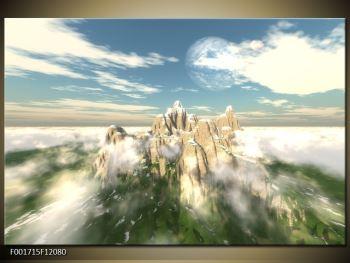 Obraz zasněžených vrcholů skal (F001715F12080)