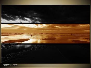 Dvroubarevný obraz moře (F001957F12080)
