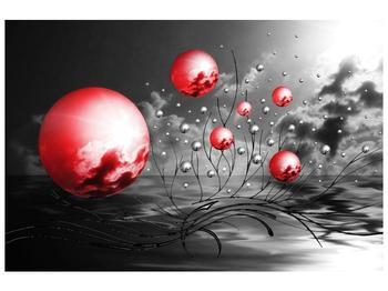 Moderní obraz - červené koule (F002086F12080)