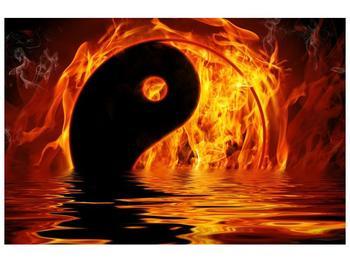 Obraz hořícího Jin Jangu  (F002885F12080)
