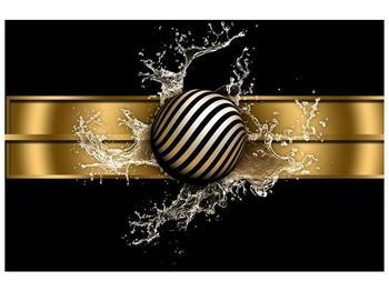 Obraz pruhované koule a vody (F004116F12080)