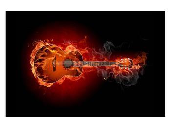 Lángoló gitár képe (K011168K12080)