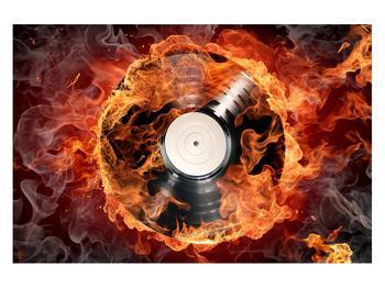 Tablou cu placă de gramofon în foc (K011171K12080)