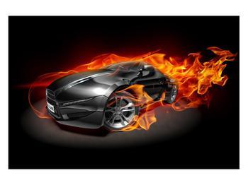 Tablou cu mașina arzând (K011174K12080)