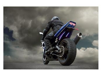 Tablou cu motociclist cu motocicletă (K011302K12080)
